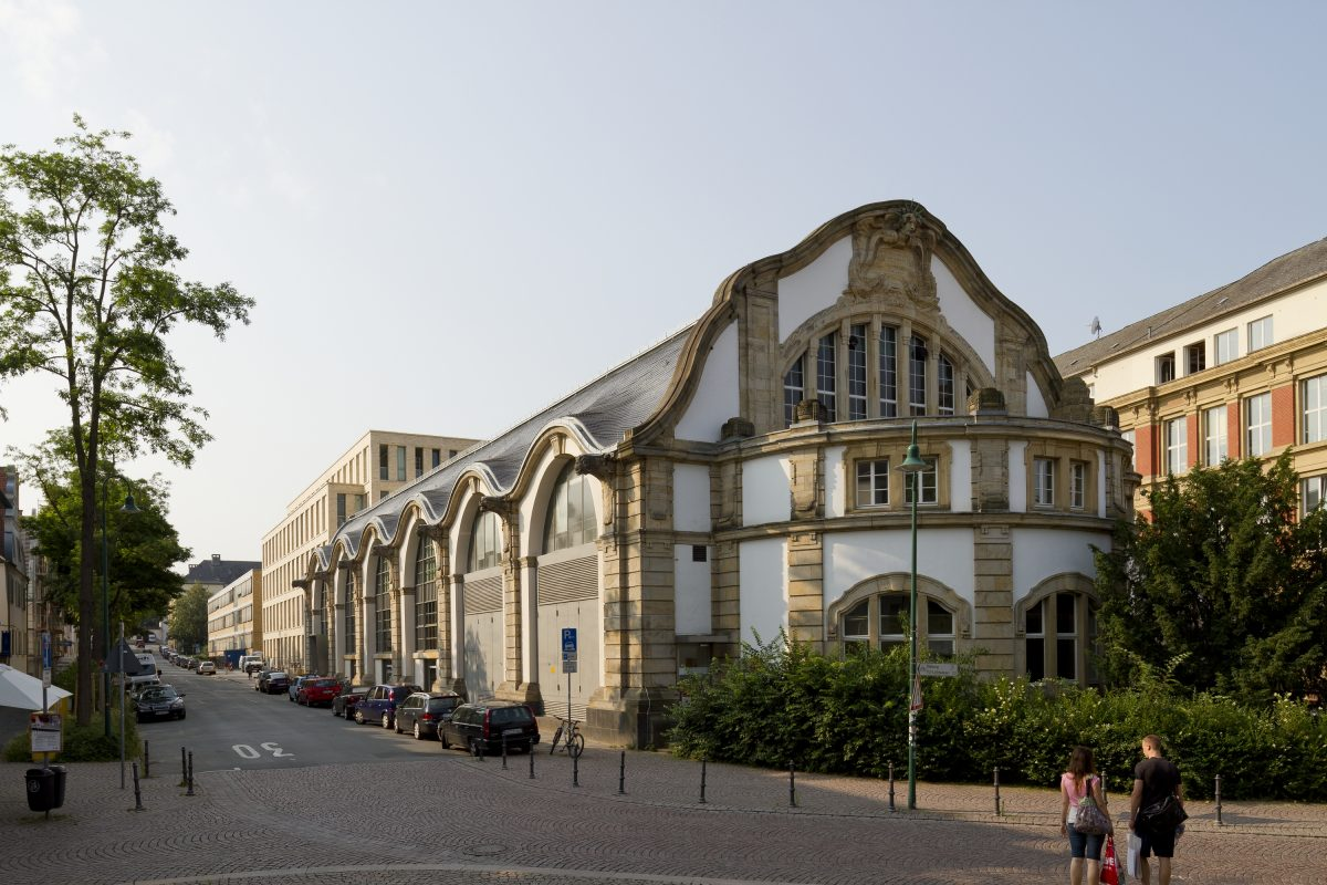 Das Maschinenhaus der TU Darmstadt.